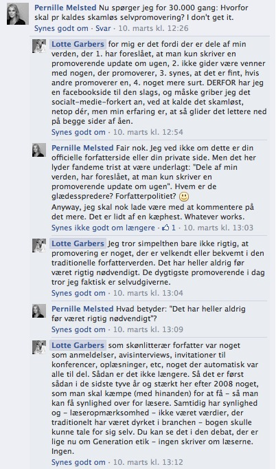 Pernille Melsted Lotte Garbers Facebook